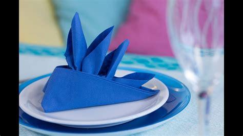 pliage de serviette en papier facile diy pliage de serviette en forme de bateau