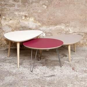 Made Table Basse : made in france table basse tripode gigognes sur mesure ~ Melissatoandfro.com Idées de Décoration