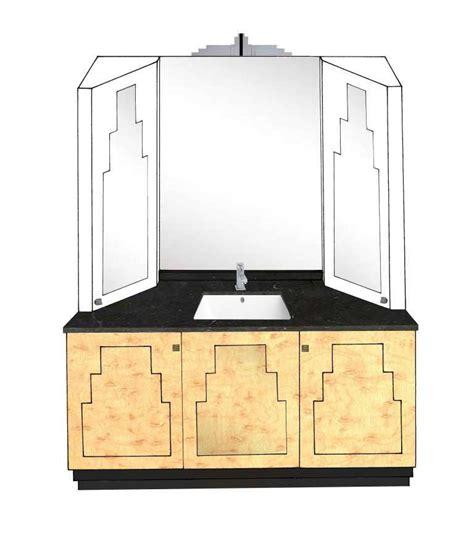 deco bathroom vanity new deco skyscraper style 3 door bathroom vanity unit