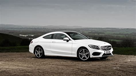 Mercedes A Class Backgrounds by White Mercedes C Class On The Background Of The