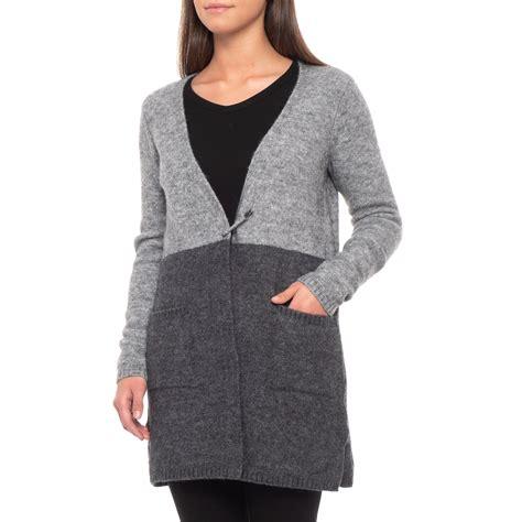Max Studio Colorblock Cardigan Sweater With Pin Closure