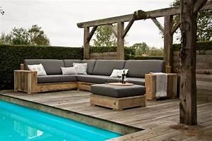 Gartenmobel aus bauholz roomidocom for Garten planen mit balkon eckbank set