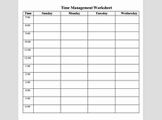 Time Management Sheets Template aiyin template source