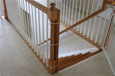 Banister Installation Kit - installing a baby gate without drilling into a banister