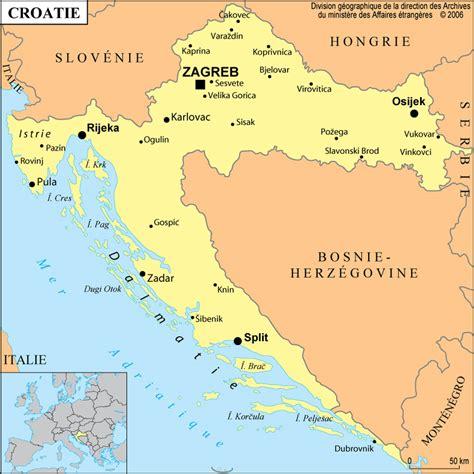 Carte Du Monde Croatie by Infos Sur Carte Du Monde La Croatie Arts Et Voyages