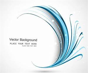 Free Blue Curved Lines Background Vector - TitanUI