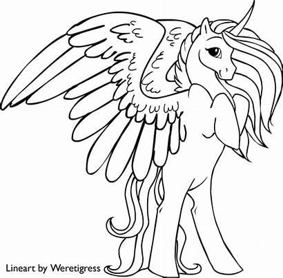 Unicorn Coloring Pages Pegasus Pony Winged Unicorns
