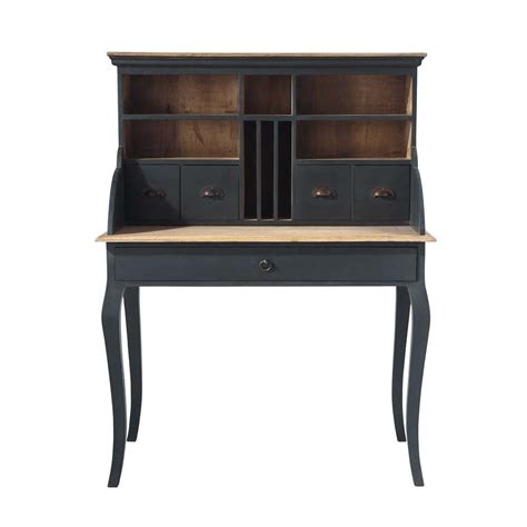 maison du monde bureaux bureau secrétaire en bois noir l 102 cm chenonceau