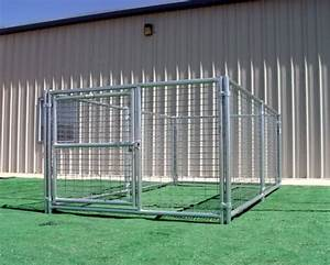 single run kennels strong welded steel wire construction With long dog kennel