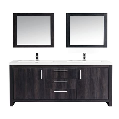 double sink mirrored bathroom vanity mtdvanities miami 59 quot double sink modern bathroom vanity