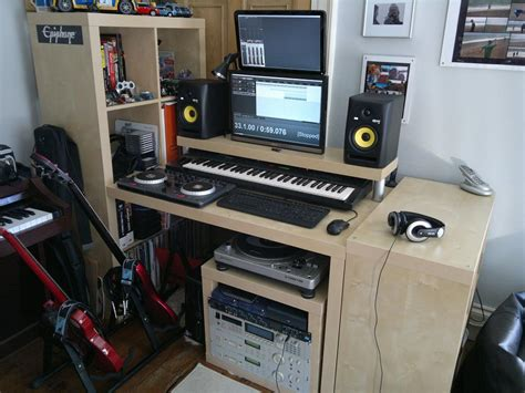 ikea studio desk hack ikea hackers lack rack expedit desktop synthesizerz