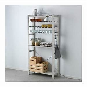 Range Bouteille Vertical Cuisine : ivar shelving unit with bottle racks ikea with casier a bouteille ikea ~ Teatrodelosmanantiales.com Idées de Décoration