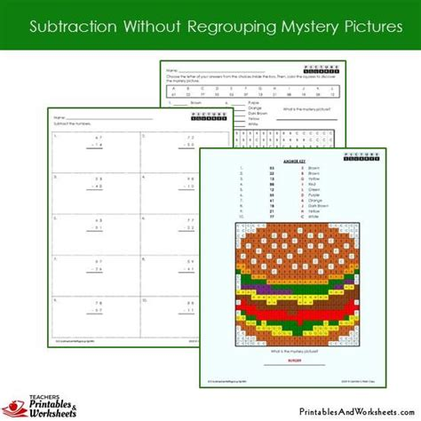 grade subtraction  regrouping coloring