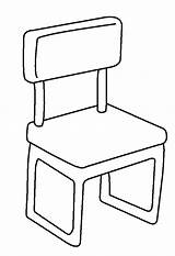 Coloring Chair Pages Template Cartoon Chairs Table Sketch Throne Household Templates sketch template