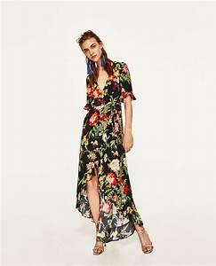 vestido largo estampado floral zara women floral and With zara robe chemise