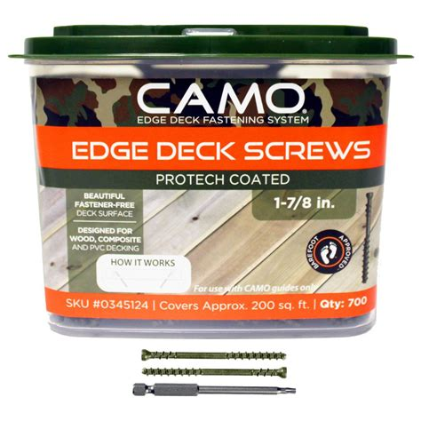 Camo Deck Screws 1 78 by Camo 1 7 8 In Protech Coated Trimhead Deck 700