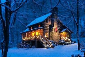 18, Must, See, Winter, Log, Cabins, Deep, In, The, Woods