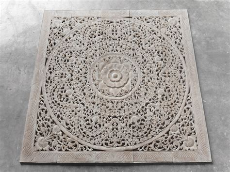 Buy Thai Wood Carving Wall Art Panel Asian Home Decor Online: Buy Oriental Decorative Wood Carving Wall Art Paneling Online
