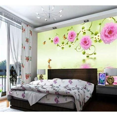 floral print designer bedroom wallpaper