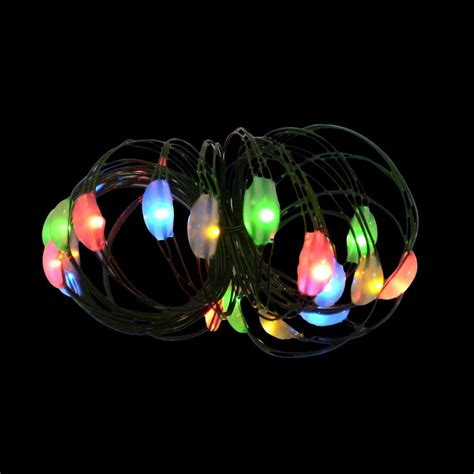 battery operated string lights home depot martha stewart living 9 ft 36 light battery operated led