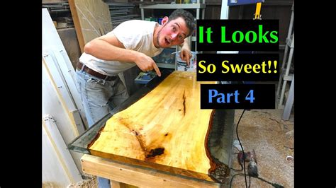 diy     resin  wood coffee table  stone