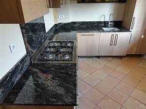 Plan De Travail Marbre Noir : plaque de marbre pour cuisine plan de travail inox ~ Dailycaller-alerts.com Idées de Décoration