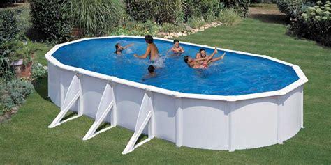 piscine hors sol acier enterree piscine acier hors sol pool avec renforts apparents