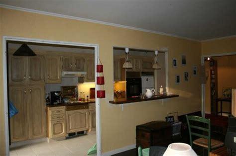 ouverture de la cuisine sur salon