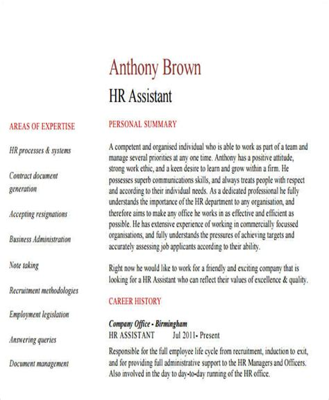 Resume For Hr Assistant Manager by 43 Manager Resumes In Pdf