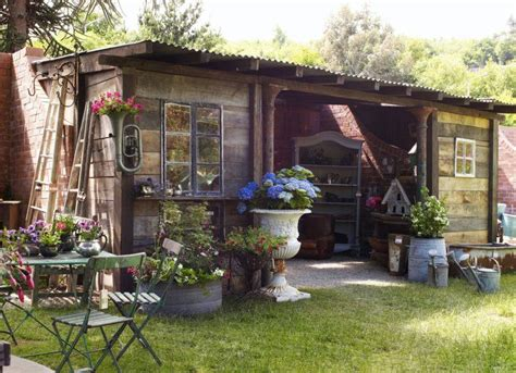 Shed From Recycled Materials by A Rustic Potting Shed From Many Recycled Materials