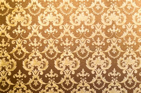 Gilded Floral Wall Background Stock Image