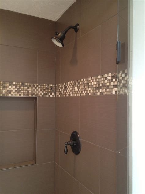 shower  mosaic tile accent bathroom styling