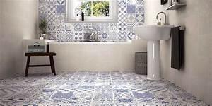 Carrelage Salle De Bain Sol : carrelage imitation carreaux de ciment un grand retour ~ Dailycaller-alerts.com Idées de Décoration