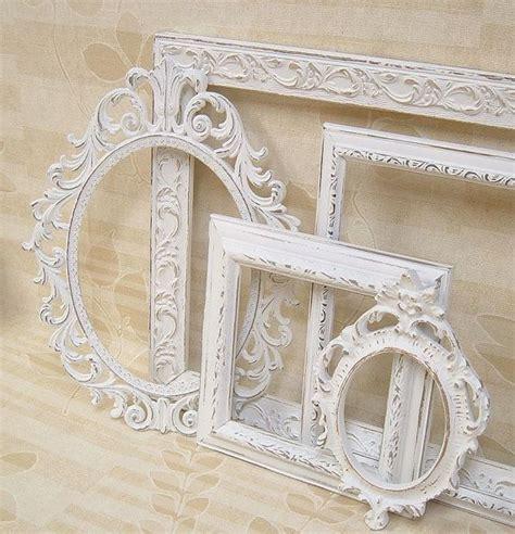 shabby chic white frames picture frames shabby chic frames white frame set ornate frames home