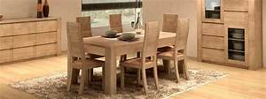 chaises de salle a manger en teck With meuble salle À manger avec chaise salle a manger en bois massif