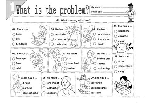 What Is The Problem?  01 Worksheet  Free Esl Printable Worksheets Made By Teachers