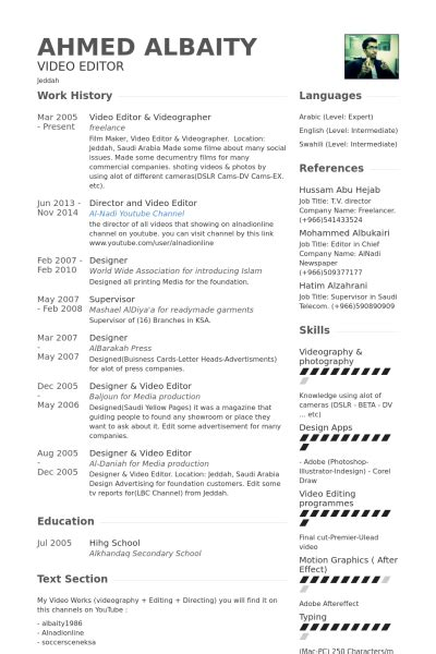 Edit Resume For Free by Editor 3 Resume Format Resume Exles Resume