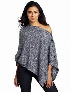 525 America Women's Tweed Poncho Sweater