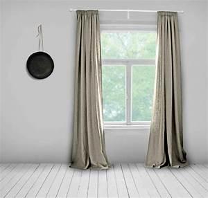 Rideaux En Lin Naturel : les rideaux en lin naturel simbolisent le confort et l ~ Dailycaller-alerts.com Idées de Décoration