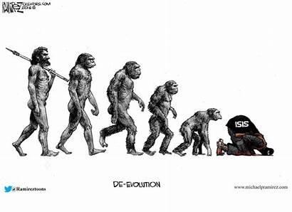 Cartoon Muslims Chicago Evolution Isis Offended Cartoonist