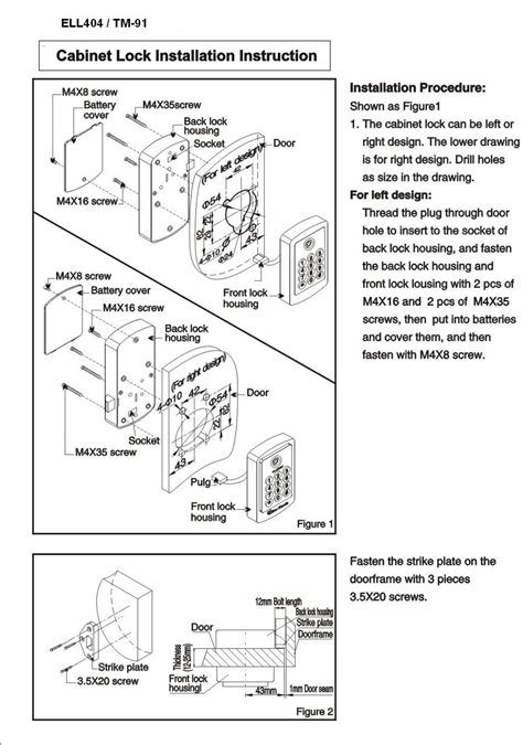 File Cabinet Lock Installation Instructions ? Cabinets