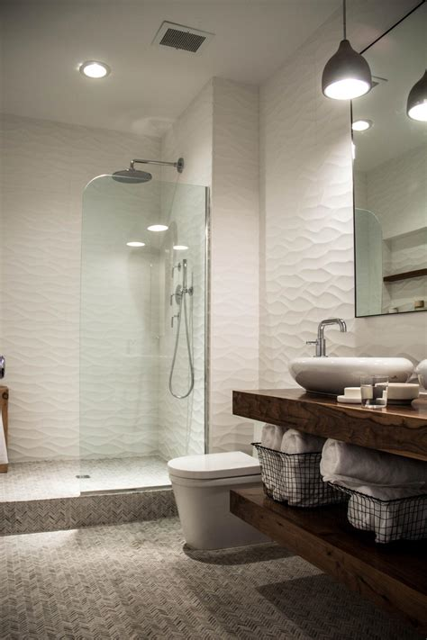 Bathroom Design Ideas Walk In Shower by White Modern Bathroom With Floating Vanity And Walk In