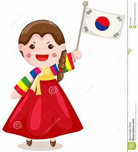 Korean clipart cute korean - Pencil and in color korean ...