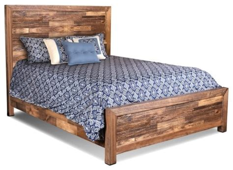 fulton solid wood queen size bed frame farmhouse panel beds  crafters  weavers