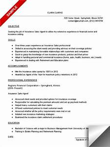 2016 insurance broker resume objective samples With insurance resume examples