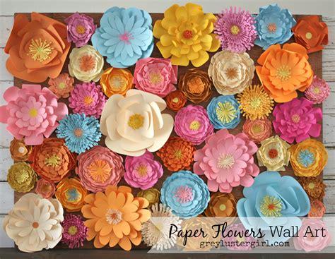 Paper Wall Art Flowers  Mesmerizing Diy Handmade Paper