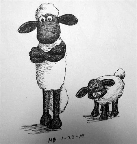 shaun  sheep farmer drawing