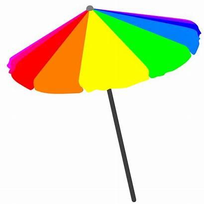 Umbrella Beach Clip Clipart Pool Vector Summer