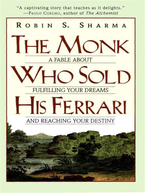 ~ robin sharma from the monk who sold his ferrari. The Monk Who Sold His Ferrari - Robin Sharma (PDF ...