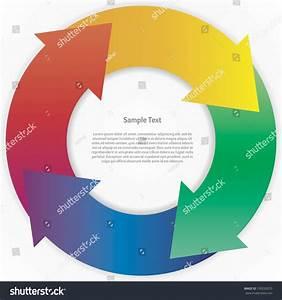 Abstract Color Wheel Life Cycle Diagram  Vector